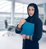 Islamic executive in a business presentation scene Stock Photo