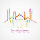 Islamic festival background. Colorful islamic festival ramadan template design Royalty Free Stock Photography