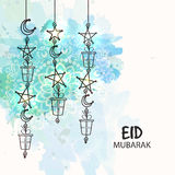 Islamic festival, Eid celebrations greeting card design. Stock Images