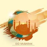 Islamic festival, Eid Mubarak celebration with Mosque and moon. Stock Photography