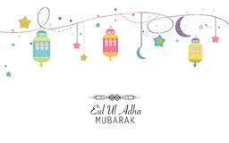 Islamic Festival of Sacrifice, Eid-Al-Adha celebration greeting card.. Islamic Festival of Sacrifice, Eid-Al-Adha celebration greeting card.Eid Al Adha mubarak Stock Images