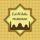 Islamic Festival of Sacrifice, Eid Al Adha Mubarak Greeting Card. Vector background.  Stock Images