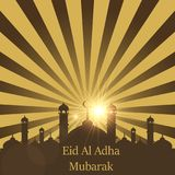 Islamic Festival of Sacrifice, Eid Al Adha Mubarak Greeting Card. Vector background.  Stock Photography