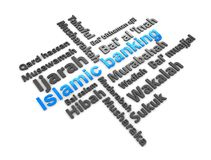 Islamic finance. 3d rendering, conceptual image, Islamic financial transaction terminology Stock Photos