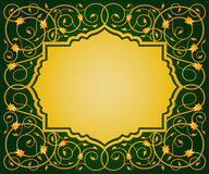 Islamic floral art border royalty free illustration