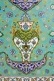 Islamic Floral Motif Pattern on Mosaic Stock Image