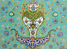 Islamic Floral Motif Pattern on Mosaic Royalty Free Stock Photos