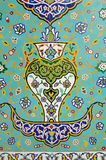 Islamic Floral Motif Pattern on Mosaic Stock Image