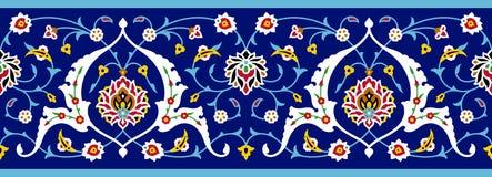 Islamic Floral Seamless Border. Arabic Floral Seamless Border. Traditional Islamic Design. Mosque decoration element vector illustration