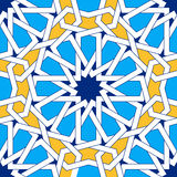 Islamic geometric ornaments based on traditional arabic art. Oriental seamless pattern Stock Photos