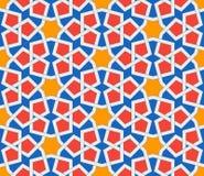 Islamic geometric ornaments based on traditional arabic art. Oriental seamless pattern. Muslim mosaic. Mosque decoration Stock Photography