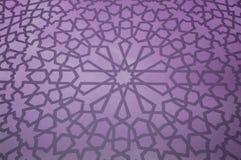 Islamic Geometric Pattern. In purple stock photo