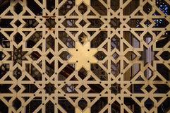 Islamic geometric pattern at Sultan Salahuddin Abdul Aziz Shah Mosque Royalty Free Stock Photography