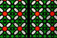 Islamic geometric pattern at Sultan Salahuddin Abdul Aziz Shah Mosque Royalty Free Stock Images