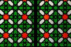 Islamic geometric pattern at Sultan Salahuddin Abdul Aziz Shah Mosque Royalty Free Stock Images