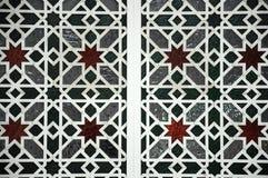 Islamic geometric pattern at Sultan Salahuddin Abdul Aziz Shah Mosque Stock Photo