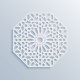 Islamic geometric pattern. Vector muslim mosaic, persian motif. Elegant white oriental ornament, traditional arabic art. Stock Images