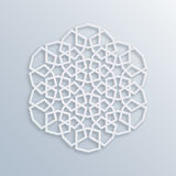 Islamic geometric pattern. Vector muslim mosaic, persian motif. Elegant white oriental ornament, traditional arabic art. Stock Illustration