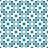 Islamic geometric seamless pattern, background in shades of blue, indigo Royalty Free Stock Photo