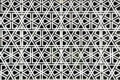 Islamic geometry pattern at Masjid Negara Wall Stock Images