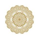 Islamic gold mandala on white background. Stock Photography