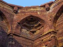 Islamic grave with inscriptions at Qutb Minar in Delhi Stock Image