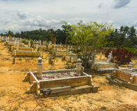 Islamic grave yard. The stage before final destination Royalty Free Stock Photo