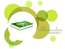 Islamic holy book Quran with Rosary for Ramadan Kareem celebration. Royalty Free Stock Photo