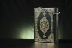 Islamic Holy Book and Subha Stock Photos