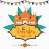 Islamic holy month, Ramadan Kareem celebration with mosque. Stock Photos
