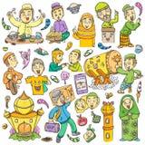 Islamic icon illustration for ramadan and eid mubarak vector illustration