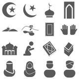 Islamic Icon. Islamic sign and symbol Icon set Stock Photo
