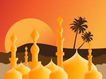 Islamic Illustration. Simple Illustration for Islamic Events Like Ramadan Month, Feter Eid, Adha Eid Stock Photo