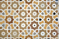 Islamic interlace pattern. Ancient marble inlay  work in islamic ornament style, Itmad-ud-Daula's Tomb, Agra, India Royalty Free Stock Image