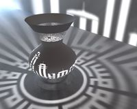 Islamic lamp 3d. Render with shadows on a wall Royalty Free Stock Photos