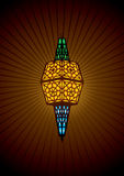 Islamic lamp vector illustration Royalty Free Stock Images