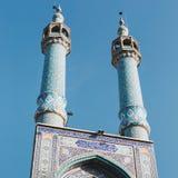 Islamic mausoleum old architecture mosque minaret iran. Royalty Free Stock Images