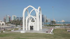 Islamic Monument in Doha, Qatar Royalty Free Stock Photography