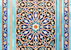 Islamic mosaic-4. Fragment of a wall of a mosque in Saint Petersburg Stock Image