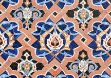 Islamic mosaic-6. Fragment of a wall of a mosque in Saint Petersburg Royalty Free Stock Images