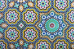 Islamic mosaic Moroccan style useful as background. In a oriental style stock photo