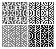 Islamic Mosaic Patterns. Seamless Islamic geometric mosaic patterns, four versions vector illustration