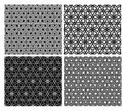 Islamic Mosaic Patterns. Seamless Islamic geometric mosaic patterns, four versions royalty free illustration