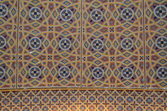 Islamic mosaics in a mosque. Stock Images