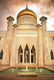 Islamic Mosque. Front view of an Islamic Mosque and Fountain stock images