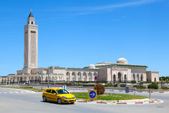 Islamic Mosque in the background. Focus on the Mosque tower. Mos Stock Photos