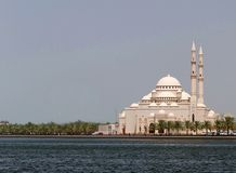 Islamic mosque on coastline Royalty Free Stock Images