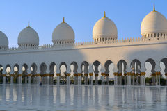 Islamic mosque domes view in daylight Royalty Free Stock Photos