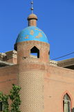 Islamic mosque in the high platform residential area in the old town of Kashgar, Xinjiang, China.  Royalty Free Stock Photography