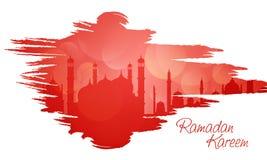 Islamic Mosque for holy month Ramadan Kareem celebration. Royalty Free Stock Image